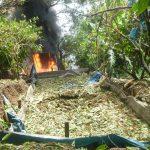 Vraem: Policía destruye tres pozas de maceración de hoja de coca