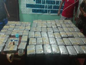 Vraem: Policía incauta más de 110 kilos de cocaína