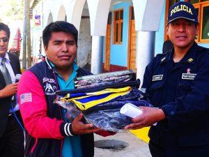Ayacucho: Entregan material para reforzar seguridad ciudadana en Ocros