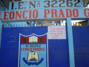 Paro de docentes de la UGEL Leoncio Prado fue al 80%