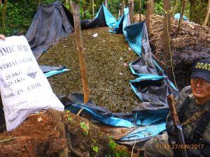 Vraem: Policia destruye dos pozas de maceración de hoja de coca