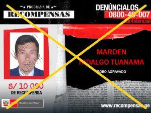 Capturan a implicado en robo agravado en San Martín