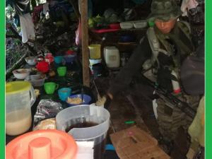 Vraem: Destruyen un megalaboratorio de elaboración de cloridrato de cocaina