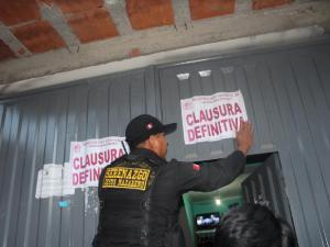 Ayacucho: Clausuran cantinas clandestinas en Jesús Nazareno