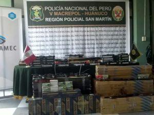 Incautaron 342 armas de fuego en San Martín y Loreto