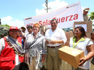 Junín: FFAA entregaron ayuda a pobladores con discapacidad de Mazamari