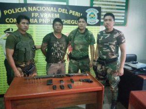 Vraem: Detienen a persona por posesión ilegal de armas de fuego