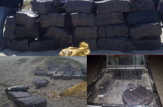 Policía encuentra 700 kilos de droga enterrada en playa Los Órganos — Piura