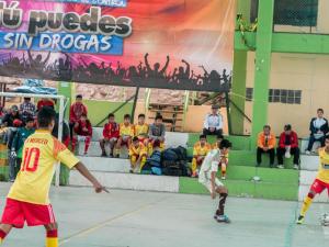 """Escolares cusqueños participan en campeonato """"Tú puedes sin drogas"""""""