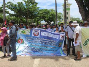 Puerto Maldonado: Gremios marchan contra instalación de concesión local