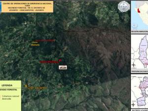 Amazonas: Bomberos extinguen incendio forestal en distrito de Levanto