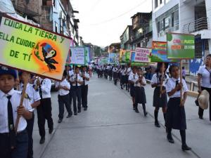 Ayacucho: Realizan pasacalle forestal en el distrito de Ayna