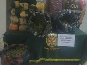 Decomisa más de cuarenta kilos de marihuana en Leoncio Prado