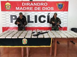 Decomisan más de 120 kilos de cocaína en Madre de Dios