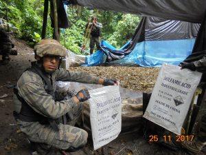 Destruyen tres pozas de maceración de hojas de coca en el Vraem