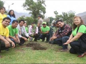 Huánuco: Reforestan áreas verdes en Laguna Viña del Río