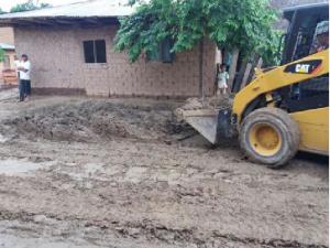 Picota: Continúa limpieza de vías y abastecimiento de agua en zona de emergencia