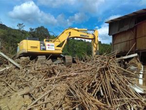 San Martín: Prosiguen trabajos en zonas afectadas por inundaciones