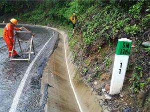 San Martín: Tránsito parcial en tramo Morales – San Pedro – San Roque tras inundación de río Cumbaza