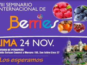 """Sierra y Selva Exportadora organiza """"VIII Seminario Internacional de Berries"""""""