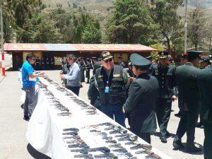 Sucamec dona armamentos para formación de policías en Moquegua