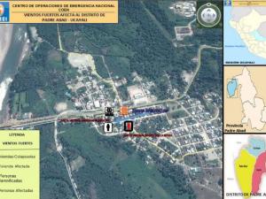 Ucayali: Entregan ayuda humanitaria a damnificados de vientos fuertes en Padre Abad