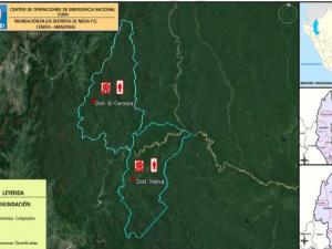 Amazonas: Entregan ayuda humanitaria a damnificados por inundación