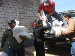 Ayacucho: Entregan alimentos a la Micro Red de Salud de Vilcas Huamán