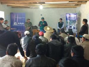 Capacitan a rondas campesinas de Cajamarca en siembra y cosecha del agua