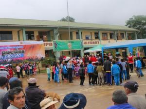Caravana de prevención de consumo de drogas llegó a Huayanay en La Convención