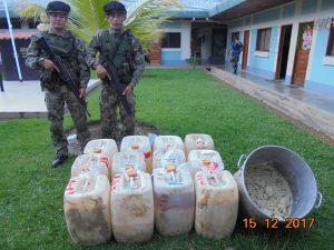 Destruyen laboratorio clandestino de procesamiento de cocaína en el Vraem