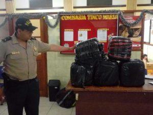 Leoncio Prado: Policía decomisa 100 kilos de hoja de coca