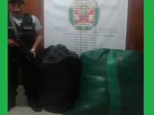 Leoncio Prado: Policía decomisa 120 kilos de hoja de coca