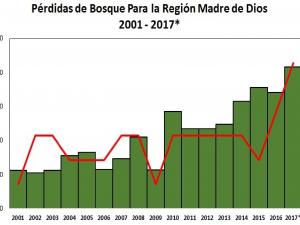 Divulgan cifras de deforestación en Madre de Dios para el presente año