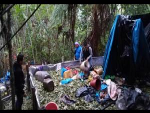 Policía destruye laboratorio clandestino en el Monzón