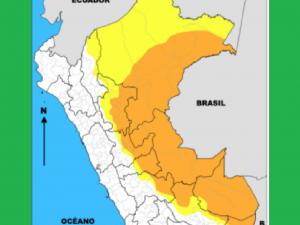 Prevén incremento de lluvias en 40 provincias de la selva