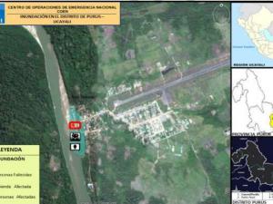 Ucayali: Realizan limpieza de viviendas afectadas por inundación en distrito de Purús