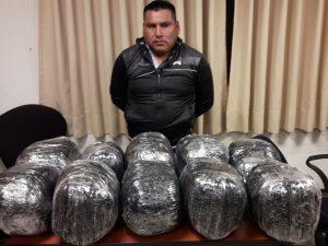 Cae sujeto con 20 kilos de marihuana del Vraem