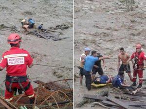 Vraem: Hospitales de Kimbiri y San Francisco atienden a heridos tras colapso de puente colgante