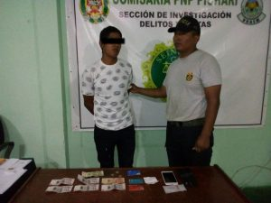 Policía arresta a ladrón en el Vraem