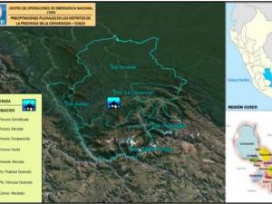Prosiguen coordinaciones antes puentes afectados por crecida de río Kimbiri