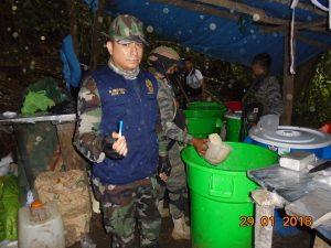 Vraem: Destruyen laboratorio clandestino para procesamiento de coca ilegal