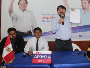 Abogado presentó candidatura a elecciones regionales en Madre de Dios
