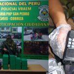 Decomisan 35 kilos de cocaína en el Vraem