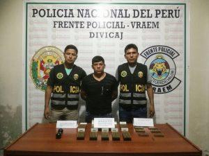 Vraem: Capturan a sargento en retiro por tenencia ilegal de explosivos