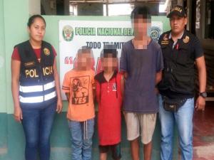 Vraem: Detienen a menores implicados en robo