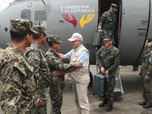 Vraem: Ministro de Defensa visita bases militares