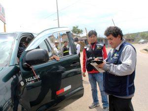 Ayacucho: Realizan operativo sobre transporte terrestre en Jesús Nazareno