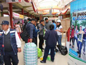 Ayacucho: Turistas se informan sobre riesgos de consumo de drogas en terrapuerto