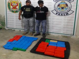 Vraem: Intervienen a sujeto con cargamento de droga